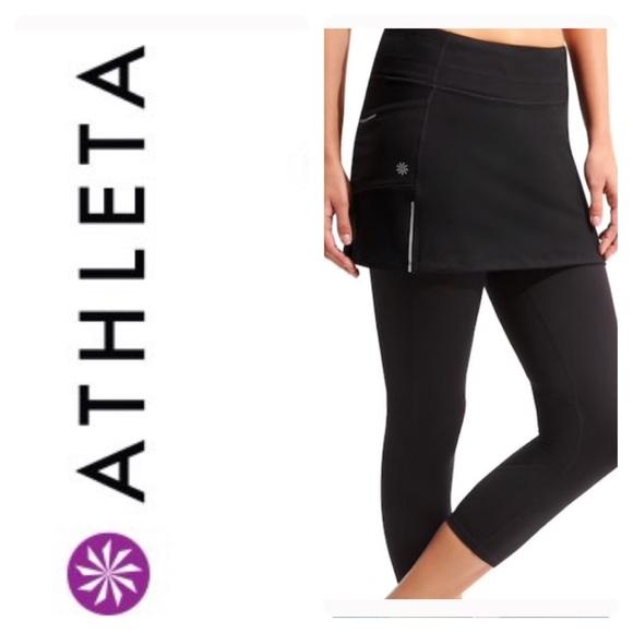 d486094671 Athleta Pants | 2in1 Skirted Leggings Yoga Skirt Capri | Poshmark